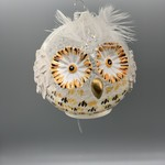 Feathered Owl Ornaments 4""