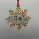 Camper and Snowflake Ornament