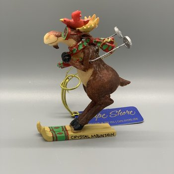 Moose Skiing Ornament