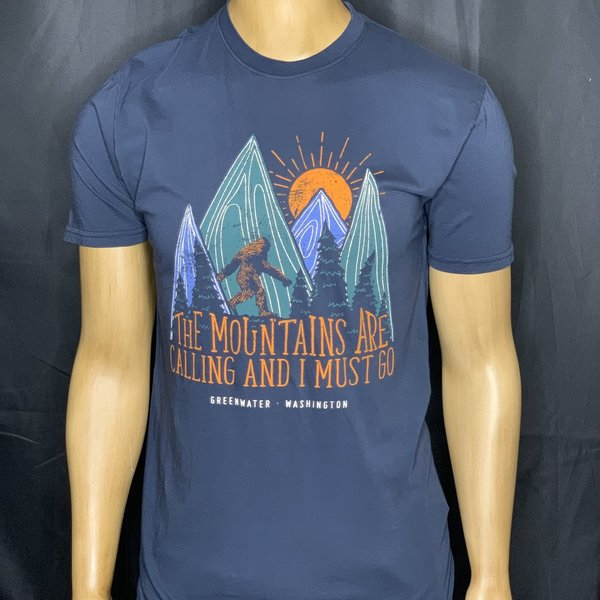 The Mountains are Calling Sasquatch Tee