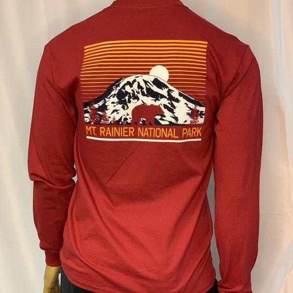 Mount Rainier Clothing and Collectables Mt Rainier Moon Mountain Bear Long Sleeve