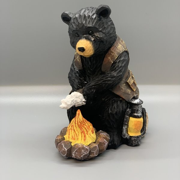 Camping Bear Figurines