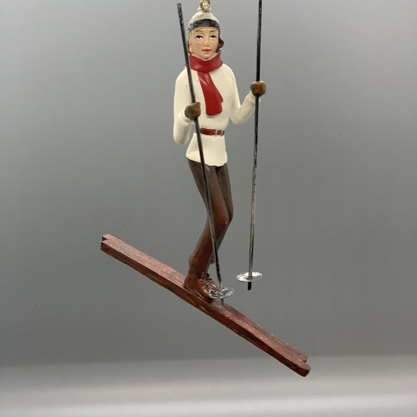 Vintage Skier Ornament
