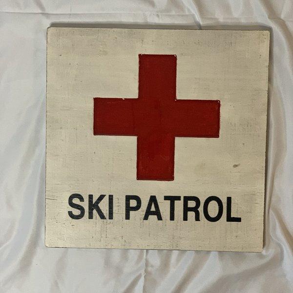 Ski Patrol Carved Sign