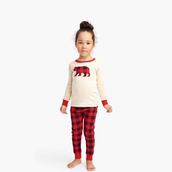 Buffalo Plaid Kids Applique PJ Set