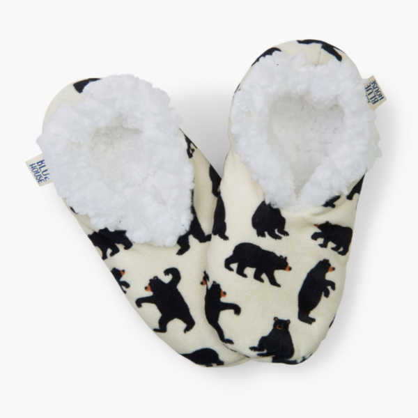 Black Bear Women's Warm and Cozy Slippers