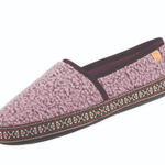 Women's Woven Trim Moccassin Slippers