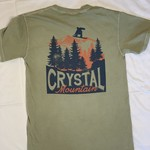 Crystal Mountain Clothing and Collectables Silhouette Crystal Mountain Over the Trees Tee