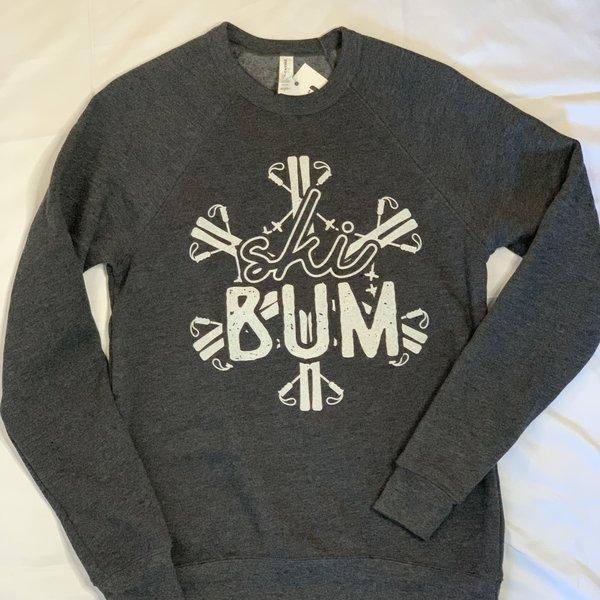 Ski Bum Snowflake Crew Neck Sweatshirt