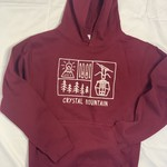 Crystal Mountain Clothing and Collectables Youth Hood Crystal Mountain