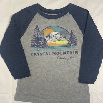 Techstyles Youth Baseball Tee Crystal Mountain