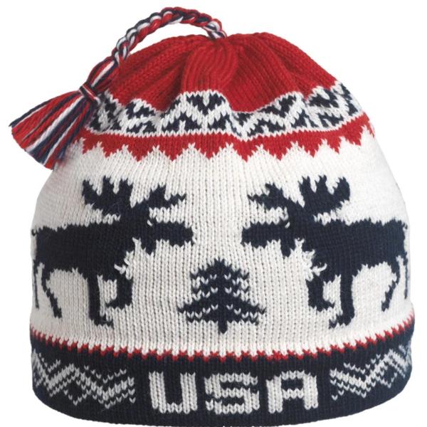 Turtle Fur Turtle Fur- USA Moose Wool Tassel Beanie (Navy)