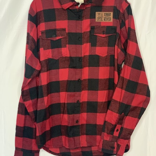 Crystal Mountain Clothing and Collectables Long Sleeve Plaid Button Up