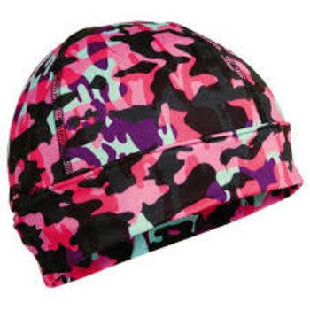 Turtle Fur Ponytail Beanie - Pink Camo
