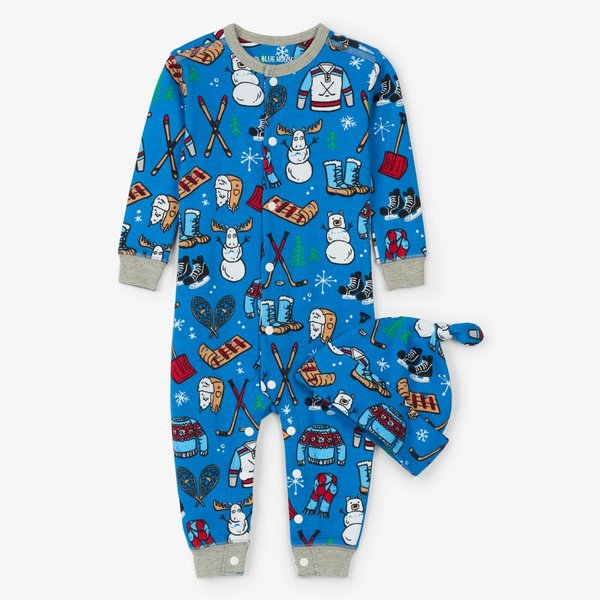 Winter Traditions Baby Coverall & Hat
