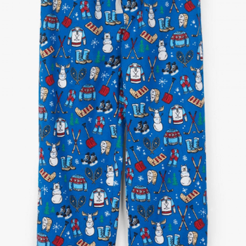 Navy Winter Traditions Men's Flannel PJ Pants