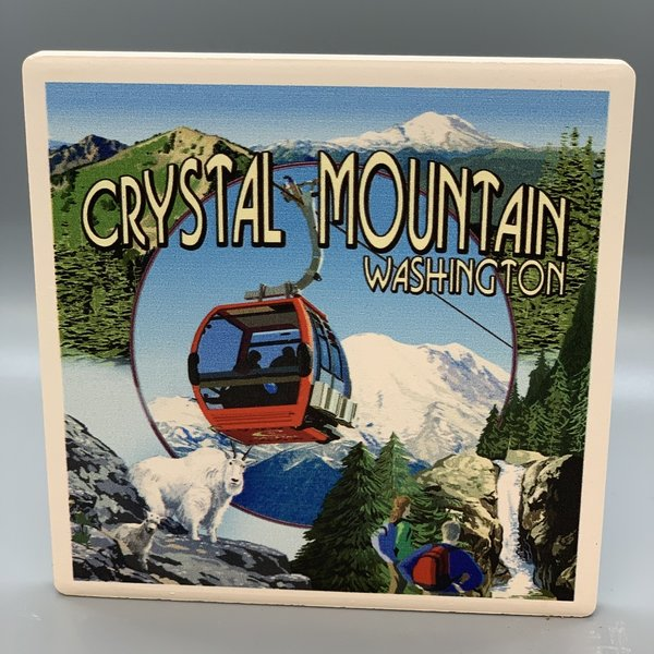 Crystal Mountain Gondola with Hikers  - COASTER