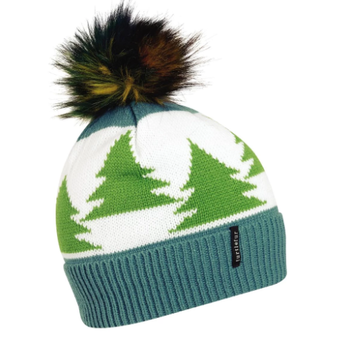 Turtle Fur Forestry Pom Beanie (Teal)