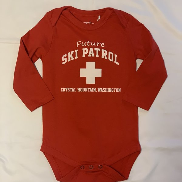 Crystal Mountain Clothing and Collectables Ollie Infant Ski Patrol Onsie