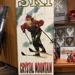 Vintage Ski Crystal Mountain Sign