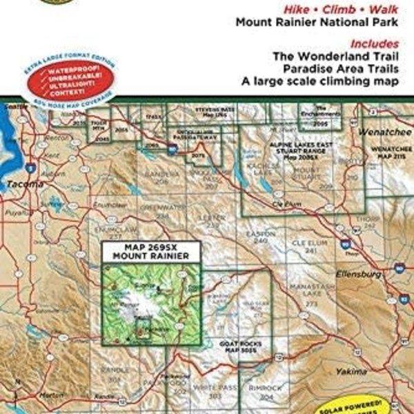 Green Trails Map No 269SX (Mount Rainier Wonderland Trail)