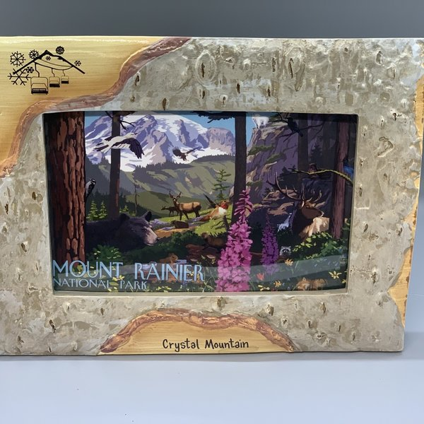 Crystal Mountain Clothing and Collectables 4x6 Polybirch Frame - Mountain Chair