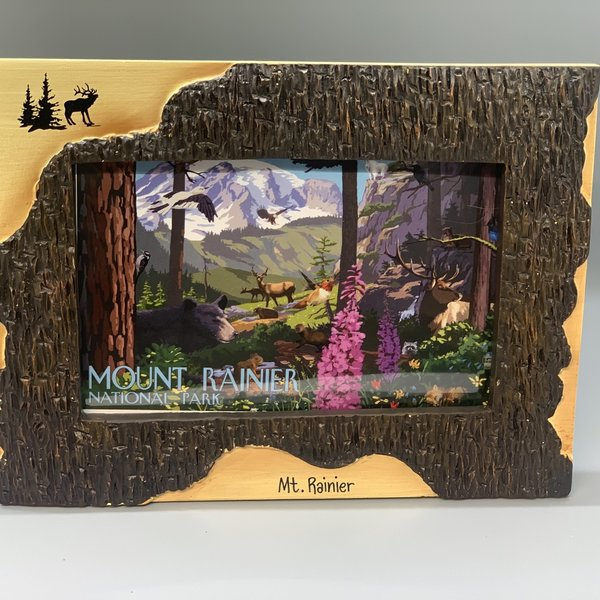 Mt. Rainier 4x6 Poly Dark Birch Frame - Elk