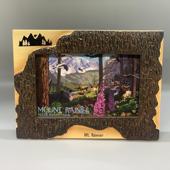 Mt. Rainier 4x6 Poly Dark Birch Frame - Mountain