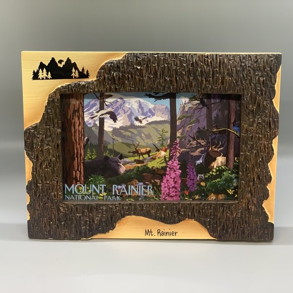 Mt. Rainier 4x6 Poly Dark Birch Frame - Mountain
