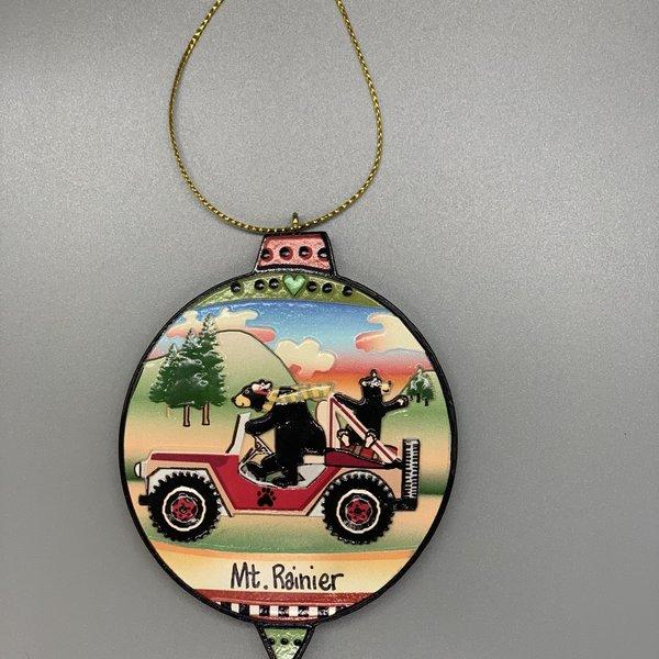 Mt. Rainier Jeep N Bears Relief Ornament