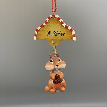 Mt. Rainier Chip Chipmunk Ornament