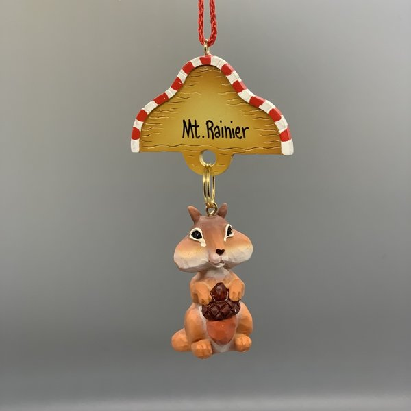 Mt. Rainier Chip Chipmunk Ornament