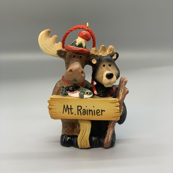 Mt. Rainier Hikng Bear Moose Couple