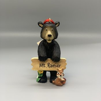 Mt. Rainier Beware Bear Ornament