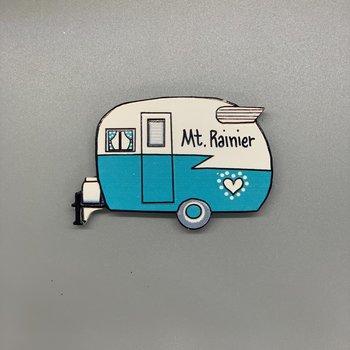 Mt. Rainier Vintage Camper Relief Magnet