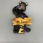 Mt. Rainier Huck L Blk Bear Magnet