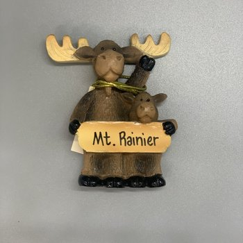 Mt. Rainier Young Son Moose Magnet