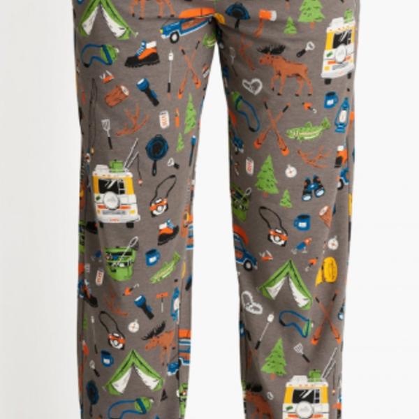 Retro Camping Men's Jersey Pajama Pants