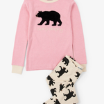 Black Bears Kids Bearly Sleeping Pajama Set