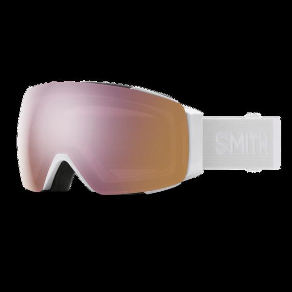 Smith I/O Mag White Vapor w/ ChromaPop Everyday Rose Gold Mirror/ChromaPop Storm Rose Flash