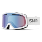 Smith Drift - White w/ Blue Sensor Mirror Lens