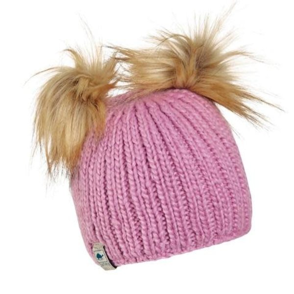 Turtle Fur Kid's Puff Balls Beanie