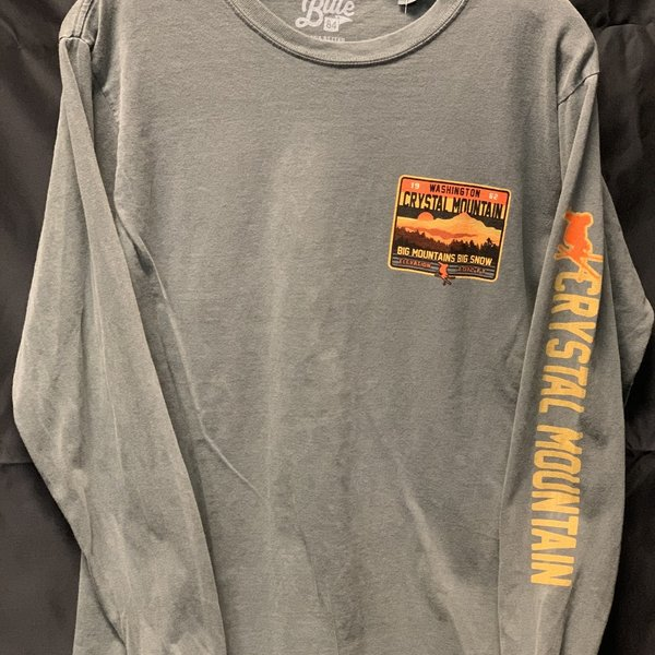 Crystal Mountain Clothing and Collectables Dyed Ringspun Long Sleeve- Repudiate Mnts/Skier FBS