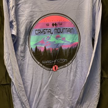Dyed Long Sleeve Crew - Crystal Mountain