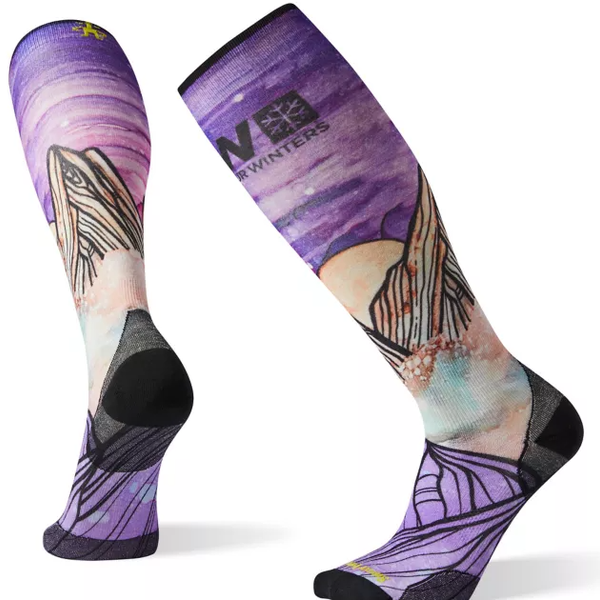 Smartwool PhD Ski Ultra Light POW Print Socks