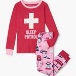Ski Holiday Kid's Applique Pajama Set