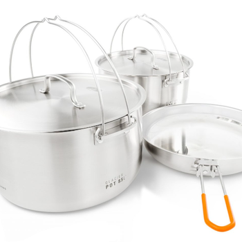 GSI Outdoors Glacier Stainless Troop Cook Set
