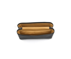 34bd46aa803 Black Leather Small Toiletry Bag | Isaac Reina | MICHEL BRISSON_ -