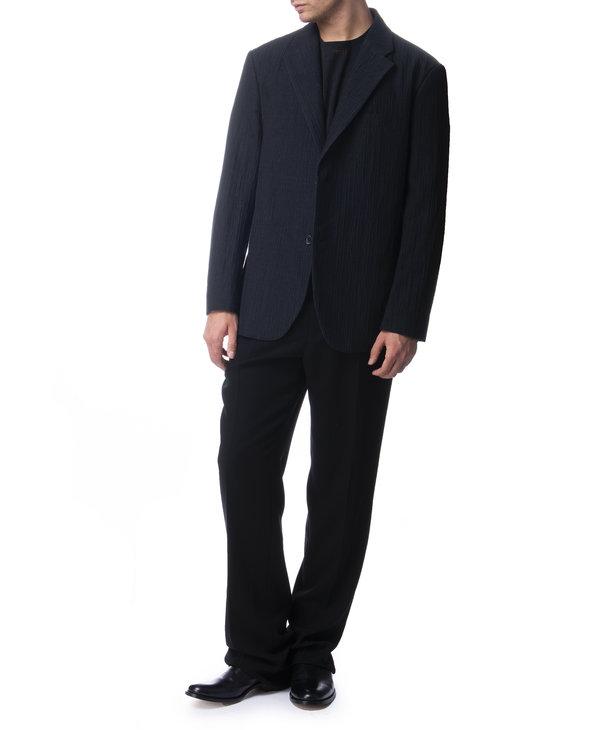 Pantalon à plis en laine noir