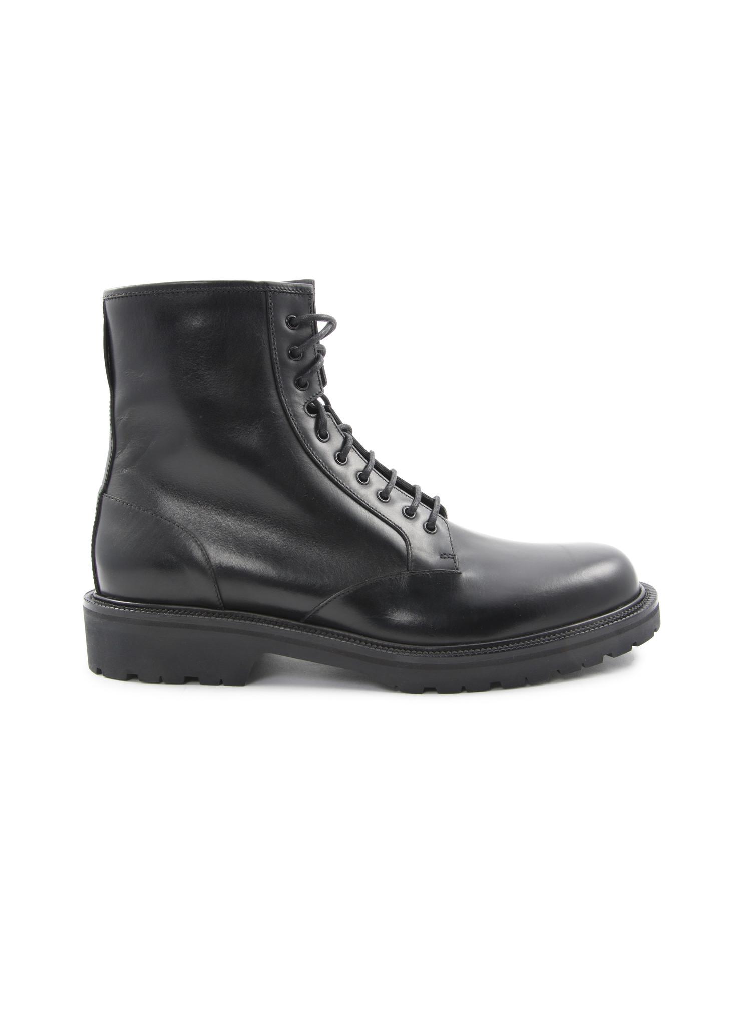 Botte militaire en cuir noir